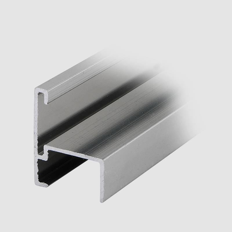 Coolee C21 Toilet Partition Cubicle Fittings Aluminum Profile Washroom Cubicle Door Edge With Rubber Noise Elimination