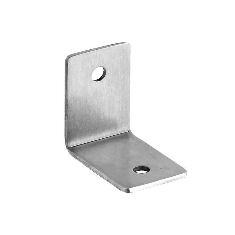 Coolee CL20125B Public Bathroom Partition Accessories Cubicle Fittings Stainless Steel Bracket Thickness 2.5mm With 2 Fixing Hol