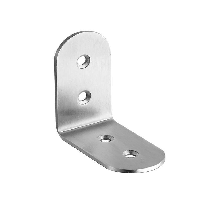 Coolee CL20130 Stainless Steel Bracket With 4 Fixing Holes Thickness 3.0mm Public Bathroom Partition Hardware Cubicle Fittings