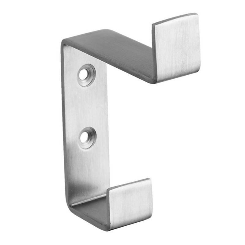 Coolee CL3026 Stainless Steel 304 Coat Hook Rubber Toilet Door Hardware Stopper Fixed By 2 Screws Public Bathroom Partition Cubi