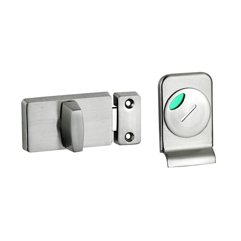 Coolee CL9072X Washroom Partition Cubicle Fittings Zinc Alloy Toilet Indicator Lock Latch Set