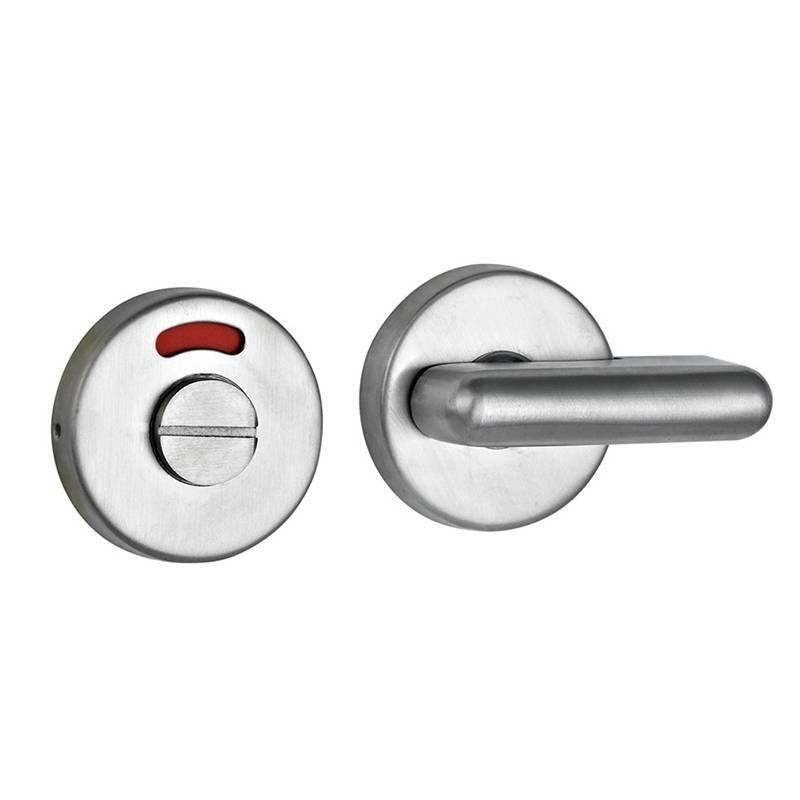 Coolee CL9082 Toilet Partition Cubicle Fittings Stainless Steel 304 Thumb Turn Indicator Door Lock Set