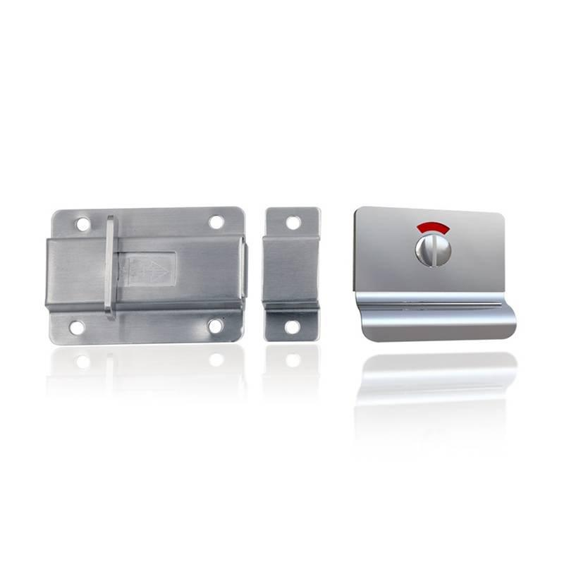 Coolee CL9132X Washroom Partition Cubicle Fittings Stainless Steel 304 Indicator Lock Toilet Latch Set