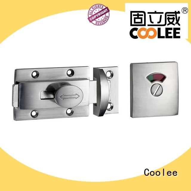 Coolee 304 toilet lock factory price for shopping mall