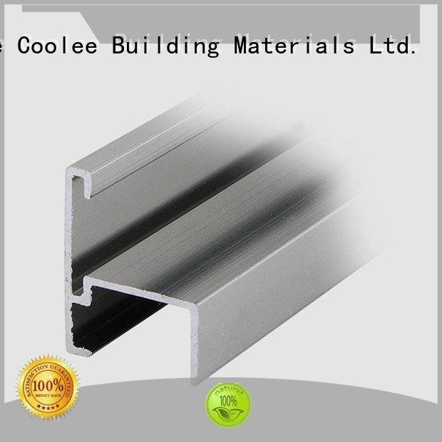 Coolee aluminium profile catalog edge washroom noise rubber